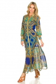 Hale Bob |  Printed maxi dress Jules | blue  | Picture 3