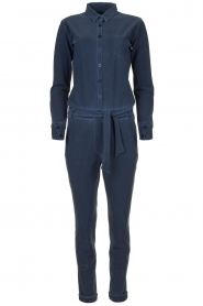 D-ETOILES CASIOPE |  Wrinkle-free stretch jumpsuit with denim look Taime | blue  | Picture 1