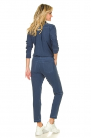 D-ETOILES CASIOPE |  Wrinkle-free stretch jumpsuit with denim look Taime | blue  | Picture 5