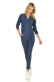 D-ETOILES CASIOPE |  Wrinkle-free stretch jumpsuit with denim look Taime | blue  | Picture 3