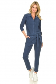 D-ETOILES CASIOPE |  Wrinkle-free stretch jumpsuit with denim look Taime | blue  | Picture 2
