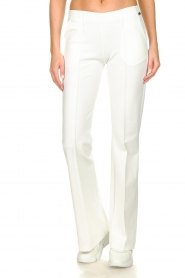 D-ETOILES CASIOPE |  Wrinkle-free stretch trousers Rodez | white  | Picture 4