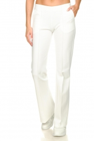 D-ETOILES CASIOPE |  Wrinkle-free stretch trousers Rodez | white  | Picture 2