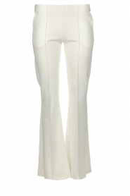 D-ETOILES CASIOPE |  Wrinkle-free stretch trousers Rodez | white  | Picture 1