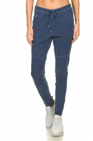 D-ETOILES CASIOPE |  Wrinkle-free stretch pants with denim look Tate | blue  | Picture 2