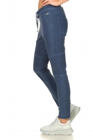 D-ETOILES CASIOPE |  Wrinkle-free stretch pants with denim look Tate | blue  | Picture 5