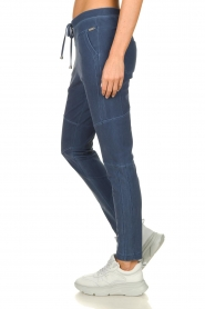 D-ETOILES CASIOPE |  Wrinkle-free stretch pants with denim look Tate | blue  | Picture 4
