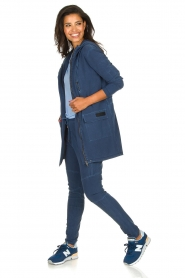 D-ETOILES CASIOPE |  Travelwear pants with denim look Tate | blue  | Picture 7