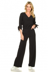 D-ETOILES CASIOPE |  Wrinkle-free stretch trousers Trixie | black  | Picture 3