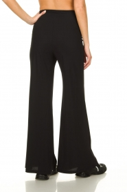 D-ETOILES CASIOPE |  Flared wrinkle-free stretch trousers Tabasco | black  | Picture 5