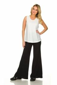 D-ETOILES CASIOPE |  Flared wrinkle-free stretch trousers Tabasco | black  | Picture 3