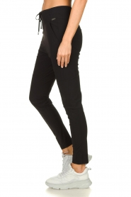 D-ETOILES CASIOPE |  Wrinkle-free stretch pants Guet | black  | Picture 5