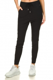 D-ETOILES CASIOPE |  Wrinkle-free stretch pants Guet | black  | Picture 4