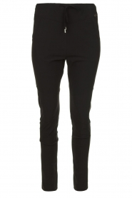 D-ETOILES CASIOPE |  Wrinkle-free stretch pants Guet | black  | Picture 1