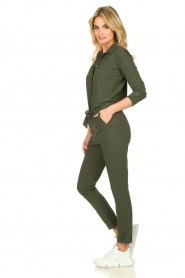 D-ETOILES CASIOPE |  Wrinkle-free stretch jumpsuit Tiamo | green  | Picture 5