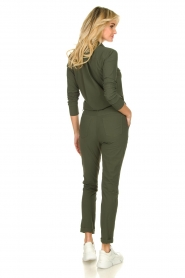 D-ETOILES CASIOPE |  Wrinkle-free stretch jumpsuit Tiamo | green  | Picture 6