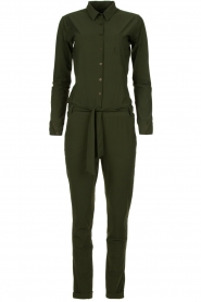 D-ETOILES CASIOPE |  Wrinkle-free stretch jumpsuit Tiamo | green  | Picture 1