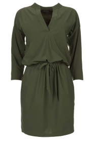 D-ETOILES CASIOPE |  Wrinkle-free stretch dress Topaze | green  | Picture 1