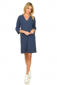D-ETOILES CASIOPE |  Travelwear dress with denim look Toujours | blue  | Picture 3