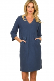 D-ETOILES CASIOPE |  Travelwear dress with denim look Toujours | blue  | Picture 4