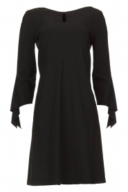 D-ETOILES CASIOPE |  Travelwear dress with sleeve details Therese | black  | Picture 1