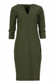 D-ETOILES CASIOPE |  Wrinkle-free stretch dress Trento | green  | Picture 1