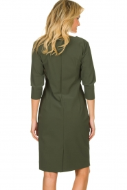 D-ETOILES CASIOPE |  Wrinkle-free stretch dress Trento | green  | Picture 5