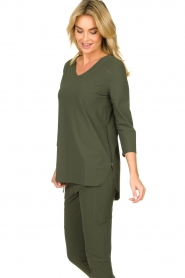 D-ETOILES CASIOPE |  Wrinkle-free stretch top Tigre | green  | Picture 6
