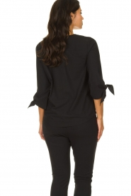 D-ETOILES CASIOPE |  Wrinkle-free stretch top with detailed sleeves Terre | black  | Picture 5