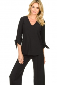 D-ETOILES CASIOPE |  Travelwear top Terre | black  | Picture 4