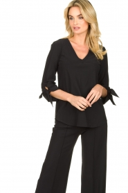 D-ETOILES CASIOPE |  Travelwear top Terre | black  | Picture 2