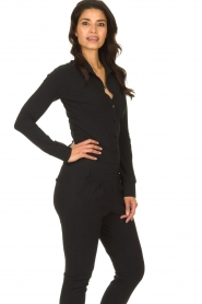 D-ETOILES CASIOPE |  Wrinkle-free stretch blouse Petite | black  | Picture 4