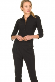 D-ETOILES CASIOPE |  Wrinkle-free stretch blouse Petite | black  | Picture 2