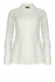 D-ETOILES CASIOPE |  Wrinkle-free stretch blouse Petite | white  | Picture 1