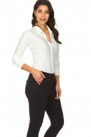 D-ETOILES CASIOPE |  Wrinkle-free stretch blouse Petite | white  | Picture 4