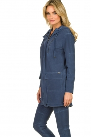 D-ETOILES CASIOPE |  Wrinkle-free stretch jacket Thyme | blue  | Picture 5