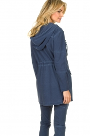D-ETOILES CASIOPE |  Wrinkle-free stretch jacket Thyme | blue  | Picture 6