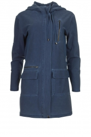 D-ETOILES CASIOPE |  Wrinkle-free stretch jacket Thyme | blue  | Picture 1