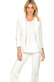 D-ETOILES CASIOPE |  Wrinkle-free stretch blazer Saintes | white  | Picture 2