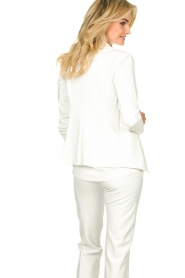D-ETOILES CASIOPE |  Wrinkle-free stretch blazer Saintes | white  | Picture 5