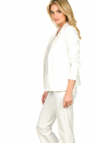 D-ETOILES CASIOPE |  Wrinkle-free stretch blazer Saintes | white  | Picture 4