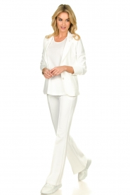 D-ETOILES CASIOPE |  Wrinkle-free stretch blazer Saintes | white  | Picture 3