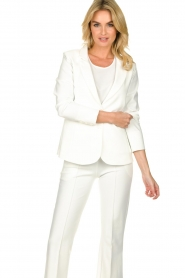 D-ETOILES CASIOPE |  Wrinkle-free stretch blazer Saintes | white  | Picture 6
