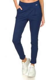 D-ETOILES CASIOPE |  Wrinkle-free stretch pants Rover | blue  | Picture 4
