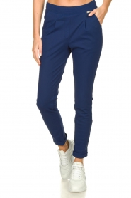 D-ETOILES CASIOPE |  Wrinkle-free stretch pants Rover | blue  | Picture 2