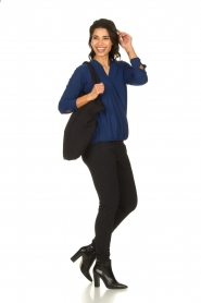 D-ETOILES CASIOPE |  Wrinkle-free stretch top with wrap effect Tonic | blue  | Picture 3