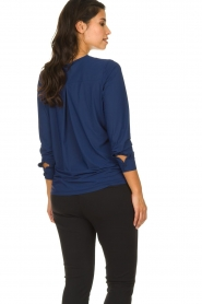 D-ETOILES CASIOPE |  Wrinkle-free stretch top with wrap effect Tonic | blue  | Picture 5