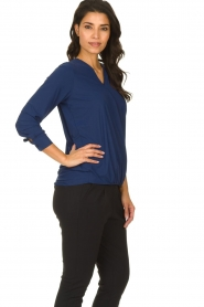 D-ETOILES CASIOPE |  Wrinkle-free stretch top with wrap effect Tonic | blue  | Picture 4