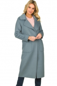 Clairval |  Wool coat Carole | blue  | Picture 2