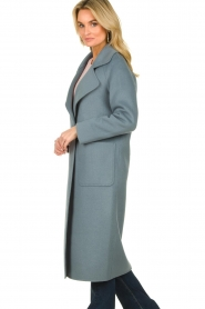 Clairval |  Wool coat Carole | blue  | Picture 5